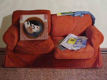 The Sofa. 70cm x 90cm, oil on linen.