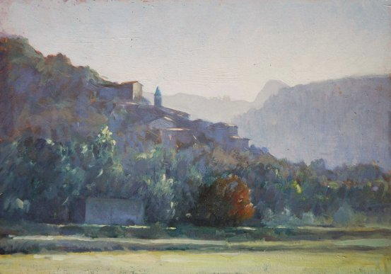 Sasseta, 20cm x 30cm, oil on board.