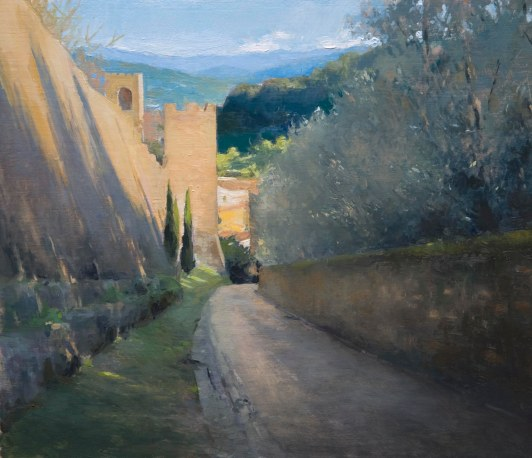 Florence Walls.  25cmx 27cm, oil on board.