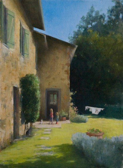 In the Garden. 30cm x 40cm, oil on linen.