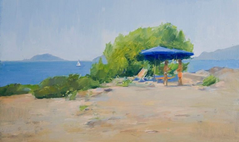 Al Mare. Oil on board, 14cm x 24cm.