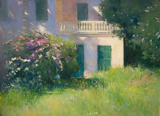 La Villa Abbandonata. Oil on wood, 30cm x 40cm.