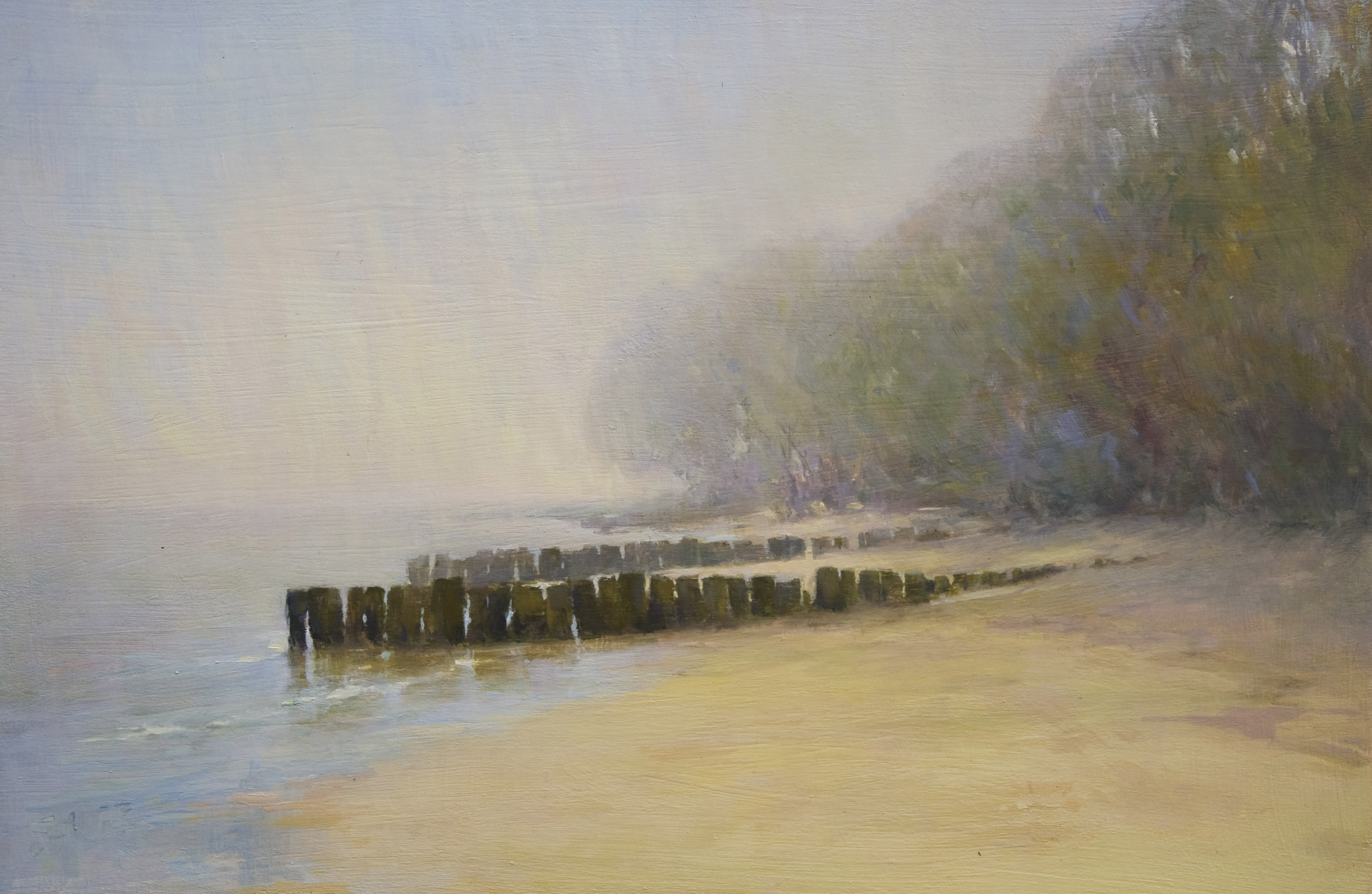 liftingfogbembridgebeach_annadennis_oilpainting