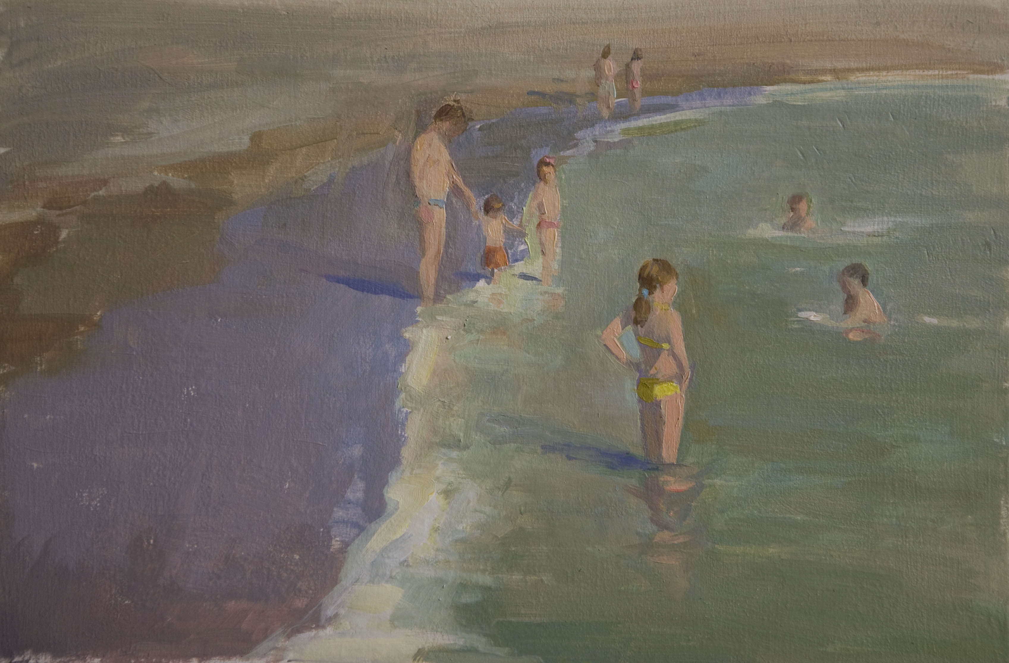 childrenonthebeach_annadennis_oilpainting