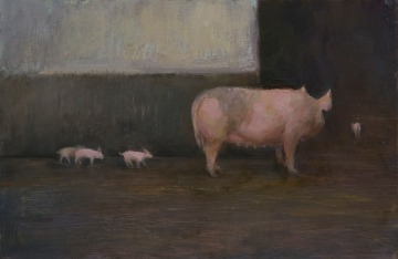 pigs_annadennis_oilpainting